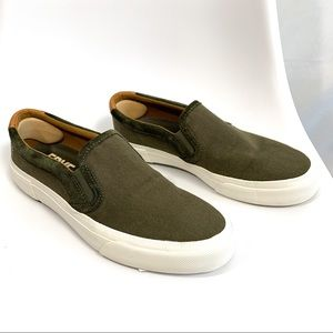 NWT Frye ludlow Slip-on olive green sneakers SZ 9